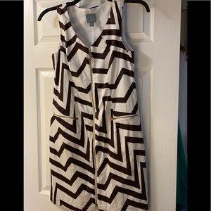 Sleeveless white dress with zipper size 8 NWOT
